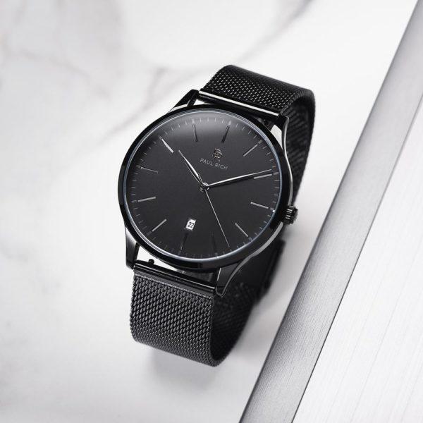שעון יד לגבר Paul rich Onyx - mesh