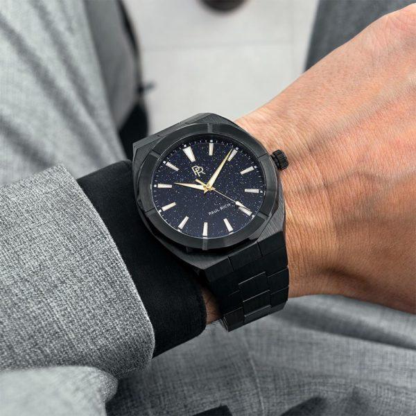 שעון יד לגבר - Paul rich Star Dust Black