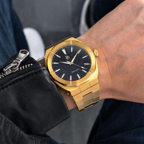 שעון יד לגבר - Paul rich Star Dust - Gold